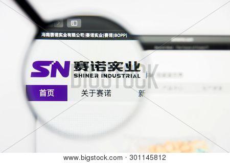 Richmond, Virginia, Usa - 9 May 2019: Illustrative Editorial Of Shiner Industrial Website Homepage.