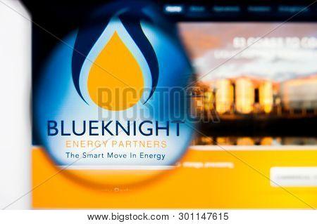 Richmond, Virginia, Usa - 9 May 2019: Illustrative Editorial Of Blueknight Energy Partners Website H