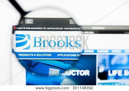 Richmond, Virginia, Usa - 9 May 2019: Illustrative Editorial Of Brooks Automation Inc Website Homepa