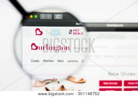 Richmond, Virginia, Usa - 9 May 2019: Illustrative Editorial Of Burlington Stores Inc Website Homepa