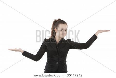 Girl Posing With Hands