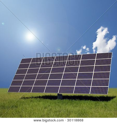 Image Of A Big Solar Plant