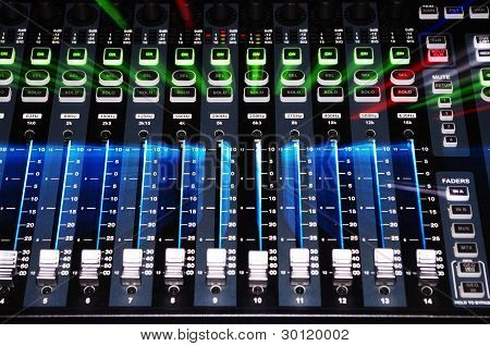 Sound Mixer System with Zoom Burst Lighting