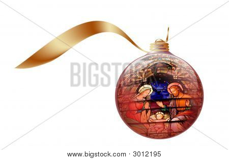Stock Foto-Illustration der Christbaumkugel