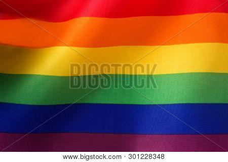 Lgtb Or Rainbow Flag. Gay Pride Flag.