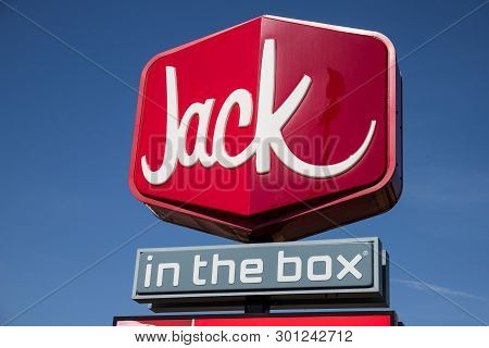 Indianapolis - Circa May 2019: Jack In The Box Fast Food Restaurant. Jack In The Box Is Reducing Job