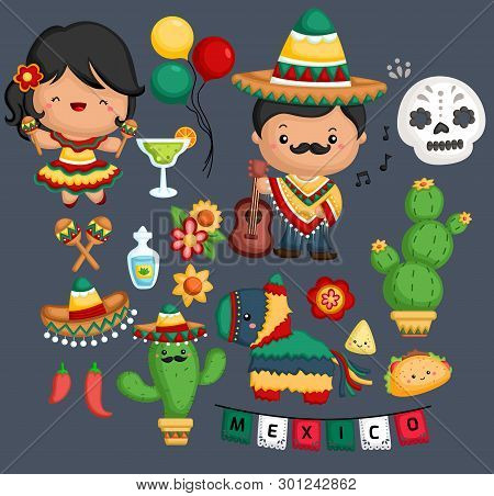 A Vector Of Mexican Culture And Tradition