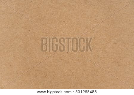 Abstract Brown Recycled Paper Texture Background Or Backdrop. Empty Old Cardboard Or Recycling Paper