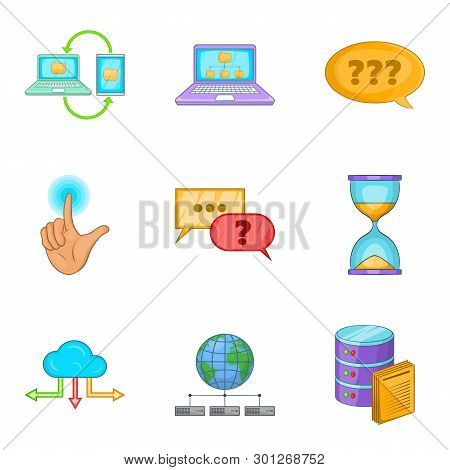 Progressive Advertising Icons Set. Cartoon Set Of 9 Progressive Advertising Icons For Web Isolated O