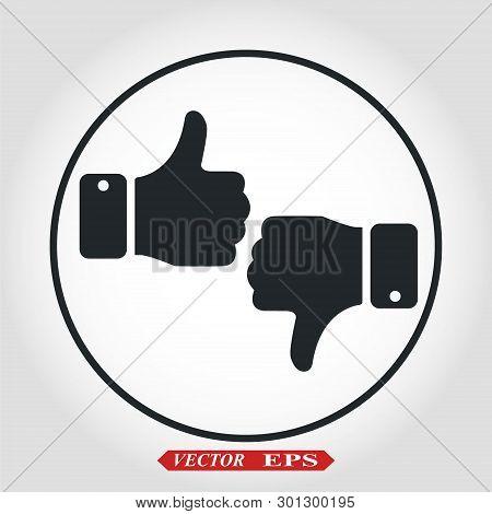 Like Icon Vector. Thumbs Up Icon. Social Media Icon. Like And Dislike Icon. Thumbs Up And Thumbs Dow