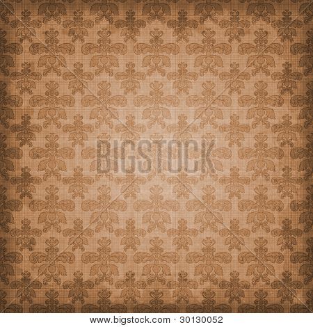 Shaded Brown Damask Background
