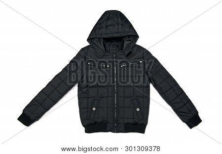 Black Jacket Isolated On The White Background