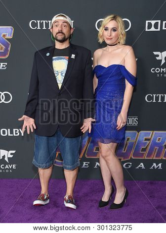 LOS ANGELES - APR 22:  Kevin Smith and Harley Quinn Smith arrives for the
