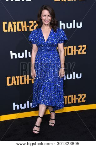 LOS ANGELES - MAY 07:  Kristin Davis arrives for the Hulu's 'Catch-22' US. Premiere on May 07, 2019 in Hollywood, CA