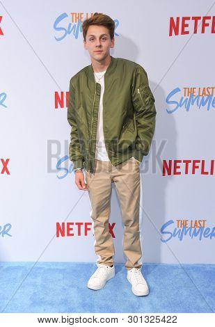 LOS ANGELES - APR 29:  Jacob Bertrand arrives for the Netflix 'The Last Summer' Premiere on April 29, 2019 in Hollywood, CA