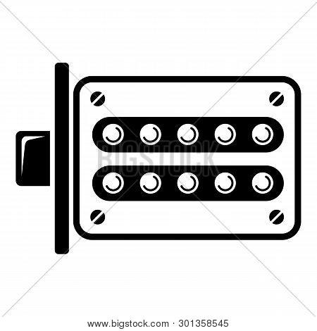 Push Button Lock Icon. Simple Illustration Of Push Button Lock Icon For Web.