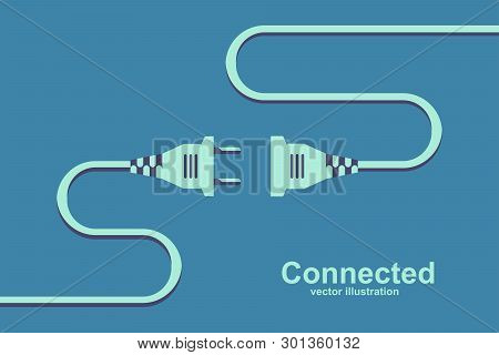 Socket Unplugged. Connecting Power Socket. Plug And Outlet. Vector Illustration Flat Design, Isolate
