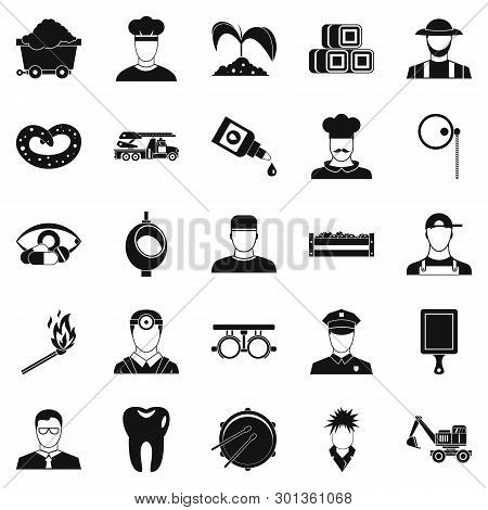 Occupational Icons Set. Simple Set Of 25 Occupational Icons For Web Isolated On White Background