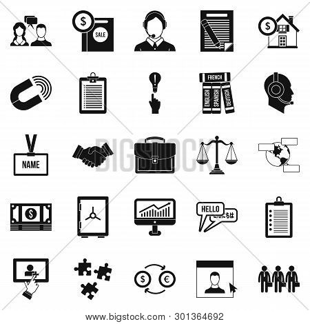 Discussion Icons Set. Simple Set Of 25 Discussion Icons For Web Isolated On White Background