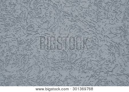 Gray Background With Ornament. Grey Paper Texture Vintage Background. Abstract Pattern On Light Gray