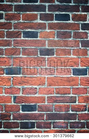 Brick wall detail in London.