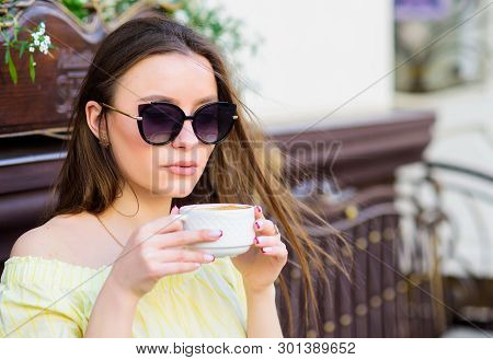 Morning Vibes In Cafe. Summer Fashion. Meeting In Cafe. Good Morning. Breakfast Time. Stylish Woman