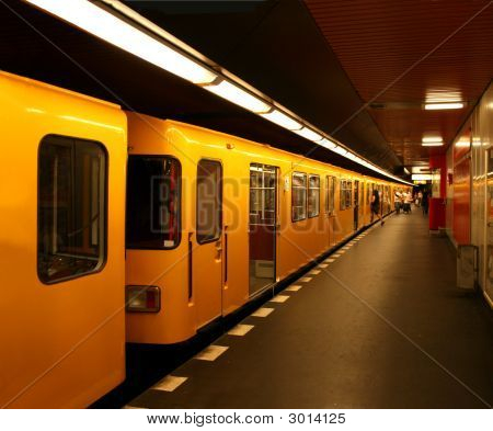 Metro Station Alexanderplatz In Berlin/Germany