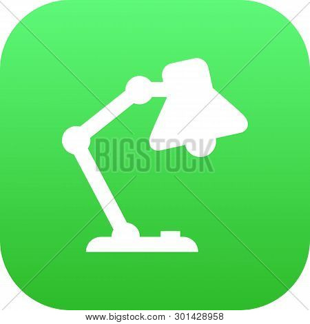 Isolated Lamp Icon Symbol On Clean Background.  Table Light Element In Trendy Style.
