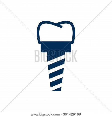 Isolated Implant Icon Symbol On Clean Background.  Implantation Element In Trendy Style.