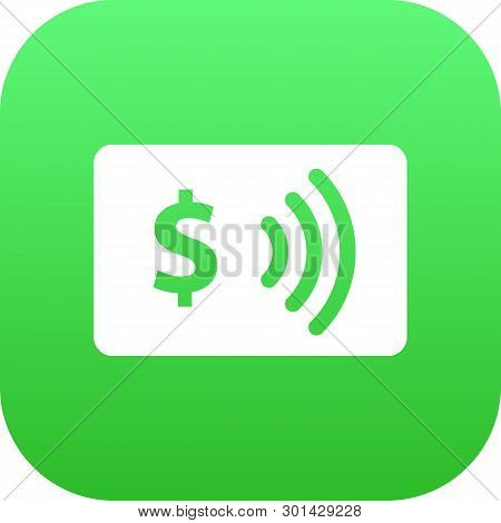 Isolated Contactless Icon Symbol On Clean Background.  Payment Element In Trendy Style.