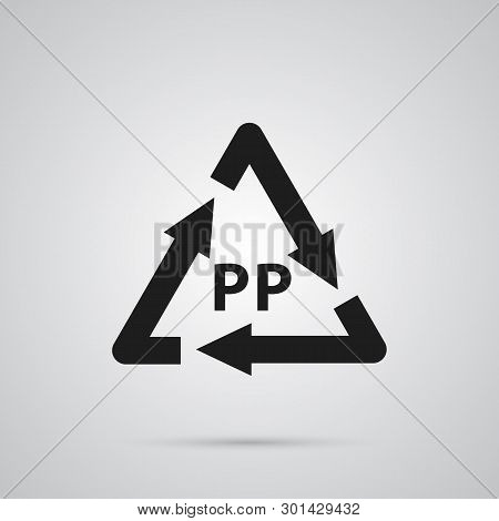 Isolated Plastic Icon Symbol On Clean Background.  Recycle Element In Trendy Style.