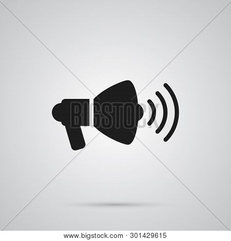 Isolated Loudspeaker Icon Symbol On Clean Background. Vector Speaker  Element In Trendy Style.
