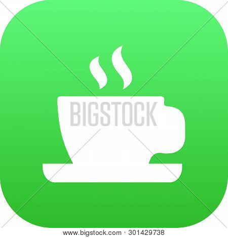 Isolated Cup Icon Symbol On Clean Background. Vector Saucer Element In Trendy Style.