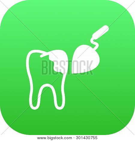 Isolated Tooth Reconstruction Icon Symbol On Clean Background.  Procedure Element In Trendy Style.