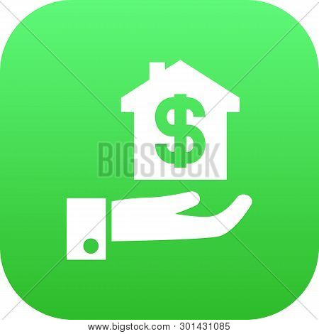 Isolated Mortgage Icon Symbol On Clean Background.  Hypothec Element In Trendy Style.