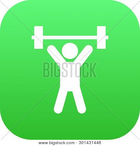 Isolated Fitness Icon Symbol On Clean Background.  Weightlifting Element In Trendy Style.