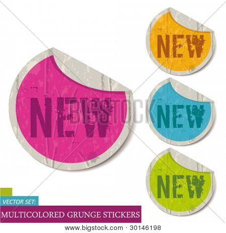 Grunge Stickers set-new
