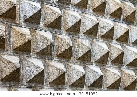 Facade pattern of the Art Museum in Segovia Spain poster