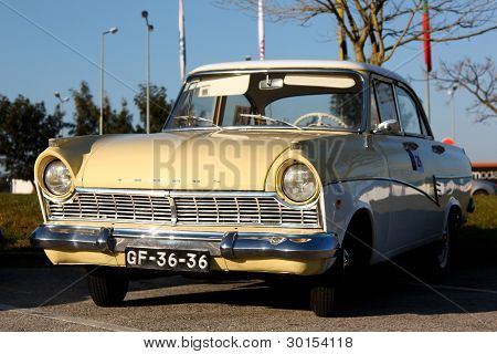 Marinha Grande, Portugal - February 11: A Ford Taunus 17Mp2 Parked During