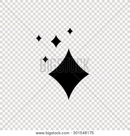 Vector Shining Icon Isolated On Light Transparent Background, Brilliance Burst, Geometric Symbol.