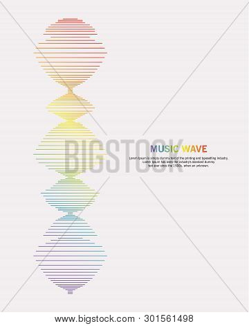 Music Wave Background. Audio Equalizer Technology, Pulse Musical