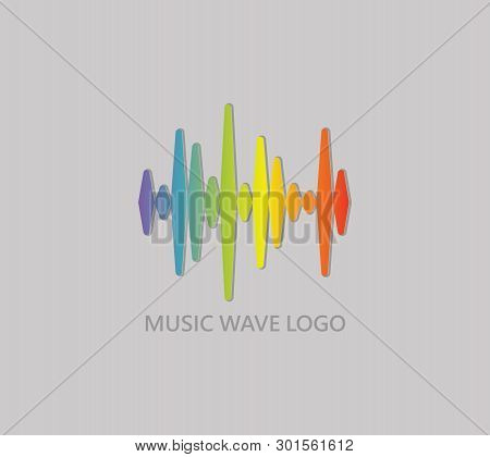 Music Wave Logo. Pulse Music Player Icon