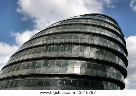Modern architecture of London United Kingdom. GLA (Greater London Authority) - famous modern City Hall. poster