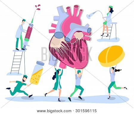 Human Health. Prevention, Treatment And Diagnosis Of Heart Disease, Cardiovascular Disease. Doctor,
