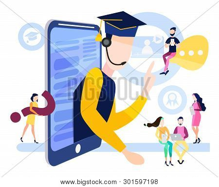 The Concept Of Online Education, Online Training, Courses For Students, Managers, Employees, Busines