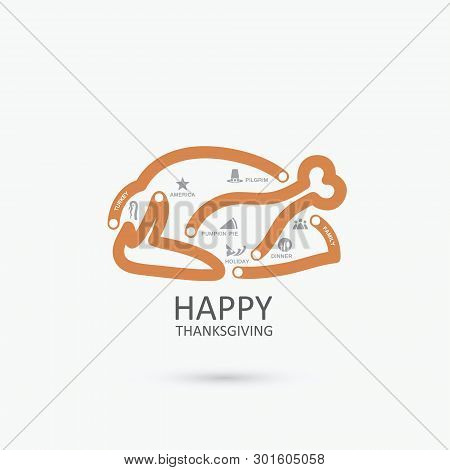 Thanksgiving Turkey Infographics - Vector Illustration - Vector