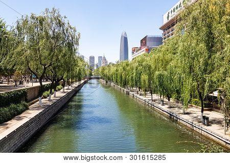 May 2015, Jinan, China: The City Moat That Runs Around The Old City Of Jinan, China