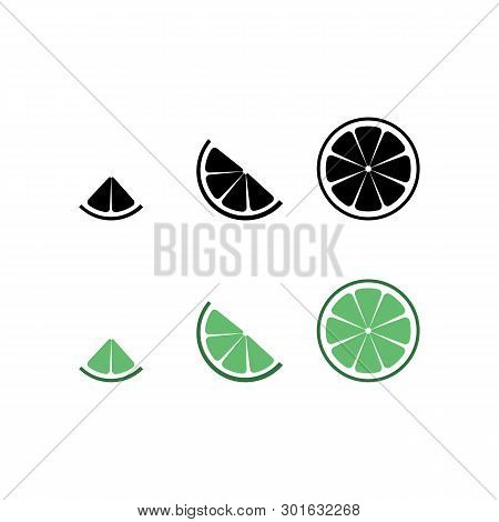 Lime Logo. Isolated Lime On White Background. Eps 10. Vector Illustration. Black Lime Silhouette And