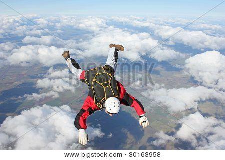 Closeup of skydiver
