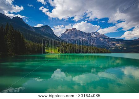 Emerald Lake Reflections In Yoho National Park